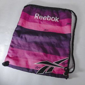 Reebok Pink & Purple Striped Strapped Backpack